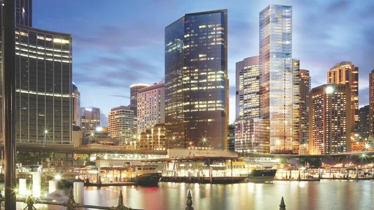 An artist's impression of the landmark Gold Fields House at Circular Quay, Sydney.