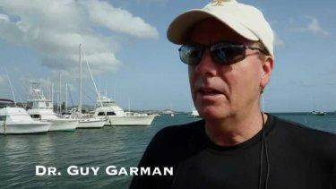 Guy Garman in a still from a YouTube video where he discusses his preparation for his final, fatal dive in St Croix, US Virgin Islands.
