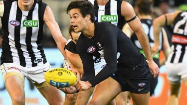 First-gamer Jack Silvagni had an impact, despite his side's loss.