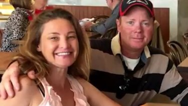 Alicia Little, pictured with the man accused of killing her, Charles Evans.