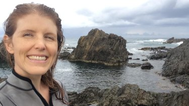 Researcher Hannah Sheppard-Brennand at the coast near Coffs Harbour.