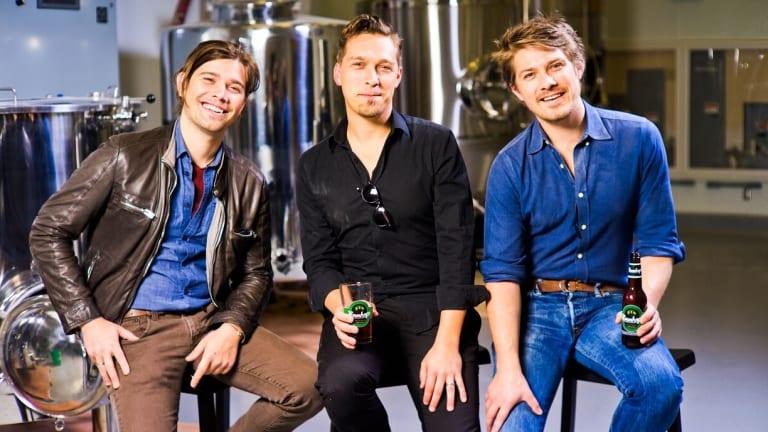 Hanson, now, beer brewers and musicians.