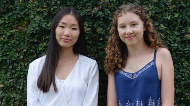Redlands students Lori Zhou, 17, and Charlie Rogers, 18, both received 44 in the International Baccalaureate, or an equivalent ATAR of 99.85.