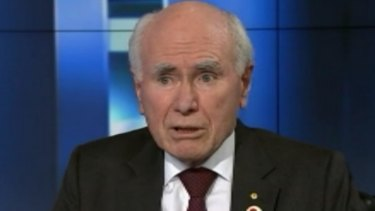 "John Howard would not resile from his previous comment that the thought of a Trump presidency made him ""tremble""."