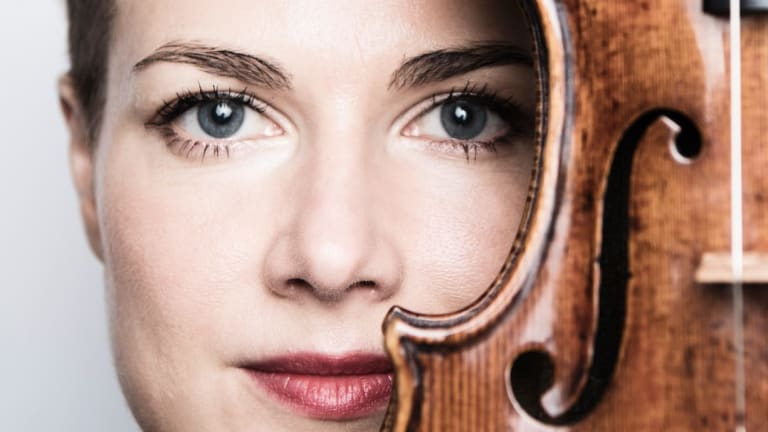 Violin virtuoso Satu Vanska turned triple somersaults backwards on the violin to meet the demands of Locatelli's Violin Concerto in D major.