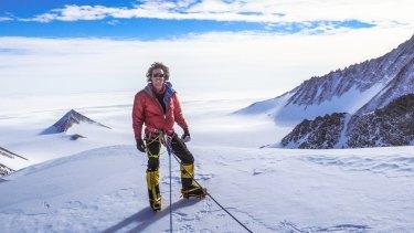 Melbourne-based adventurer Liam Suckling during his team's ascent of Antarctica's tallest mountain, Mount Vinson.