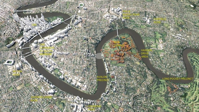 The University of Queensland master plan includes new bridges to West End and possibly Yeronga.