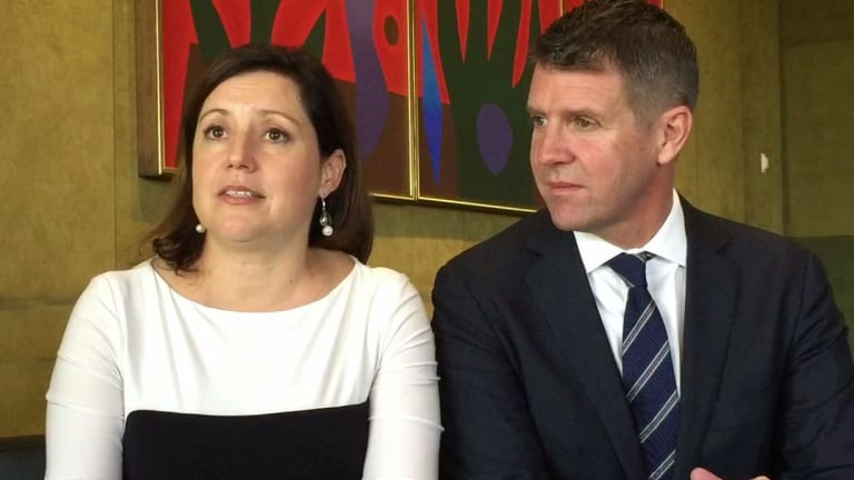 """""""You do feel like you are literally in this black, heavy, heavy cloud."""" Kerryn Baird talking about her post-natal depression, pictured with husband Mike Baird."""