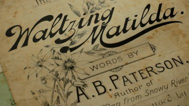 A first-edition of sheet music for <i>Waltzing Matilda</i>.
