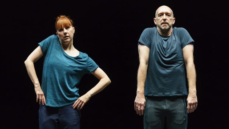 Jill Johnson and Christopher Roman in Catalogue, part of William Forsythe's A Quiet Evening of Dance.