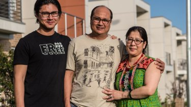 Yogesh Baisyet with his wife Minol and 19-year-old son Aryaman.