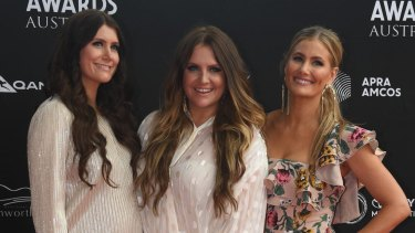 A stellar night: The McClymonts won multiple awards at The 2018 Country Music Awards.