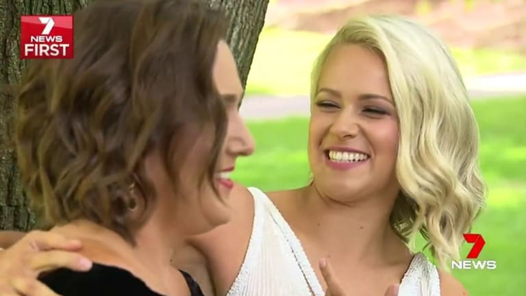 Amy and Elise McDonald married in Carlton Gardens on Saturday.