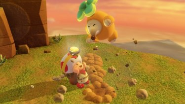 The classic ability to pull up plants from the ground returns in <i>Captain Toad</i>, but they aren't always turnips underneath!