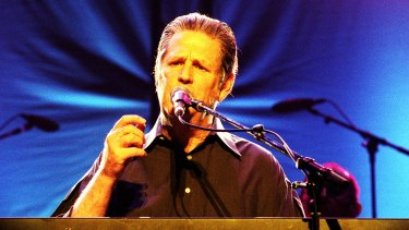 Brian Wilson performs at the State Theatre, Sydney, in 2002.