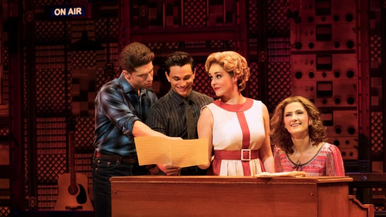 Left to right, Piterman, Verevis, Maunder and Hannaford play rival songwriting couples in Beautiful.