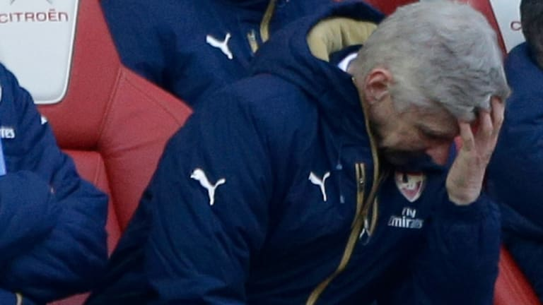 It's all too much for Arsenal manager Arsene Wenger.
