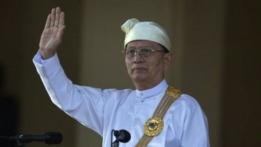 Myanmar President Thein Sein has released a video warning of violence if his party loses power.