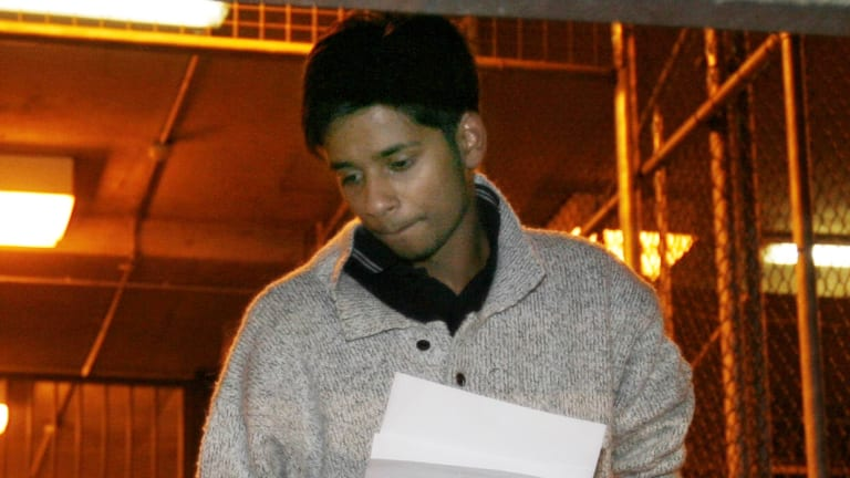 Puneet Puneet after being bailed from the Melbourne Magistrates Court in October 2008.