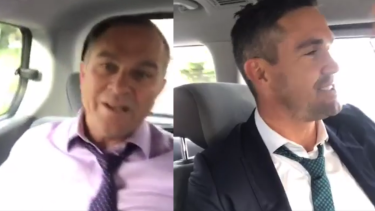 Michael Slater and Kevin Pietersen were not wearing a seatbelt in the video.