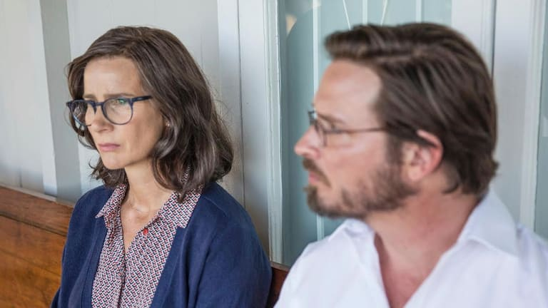 Rachel Griffiths as Lyndal's psychiatrist and Aden Young as her solicitor.