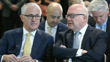 Prime Minister Malcolm Turnbull and Attorney-General Senator George Brandis.