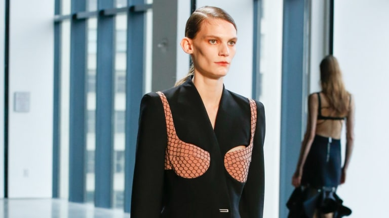 Dion Lee's NSFW look at NYFW.