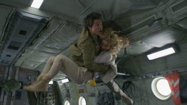 The Mummy's  much-touted zero-gravity crash scene.