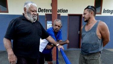 John Murray, Wes Muray and Bryce Murray at the Rumbalara Football and Netball Club.