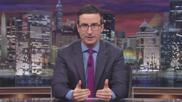 'That terrorist dips--t is vastly outnumbered' ... John Oliver was one of the first US late-night hosts to address the Orlando massacre.
