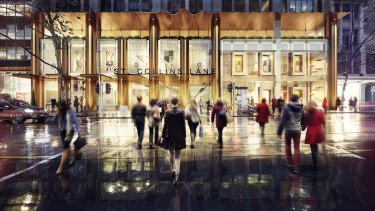 An artist's impression of the St Collins Lane redevelopment.