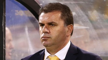 Vision: Ange Postecoglou is looking to build the Socceroos' stocks in the striking and fullback positions.