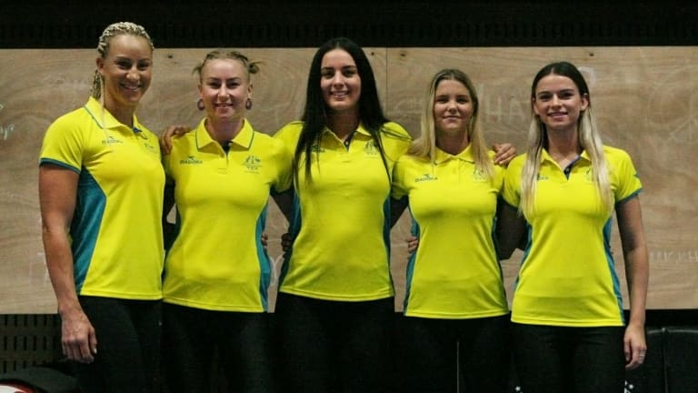 The five-strong women's boxing team for the Commonwealth Games.