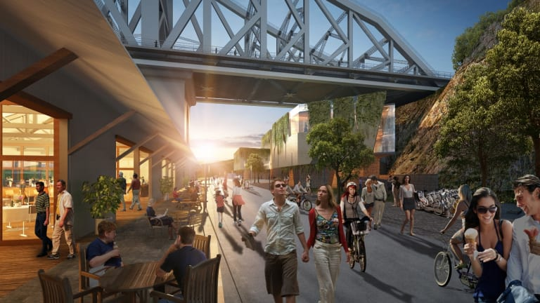Artist's impression of the Howard Smith Wharves redevelopment.