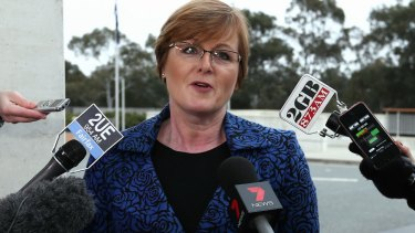 Liberal senator Linda Reynolds was upset about the lack of answers from the Department of Communications and the Arts.