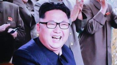 A South Korean TV news channel shows an image of North Korean leader Kim Jong-un.