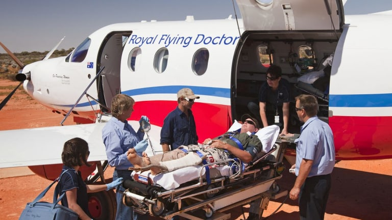 One in five patients evacuated by the Royal Flying Doctor Service is suffering an injury.