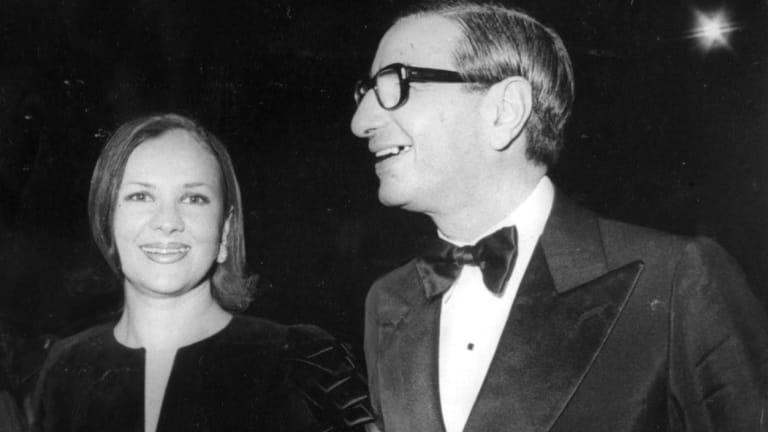 Susan and Isaac Wakil at a gala night at the Opera House.