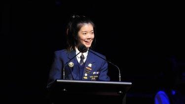 Presbyterian Ladies College school captain Natalie Liu achieved a perfect IB study score of 45.
