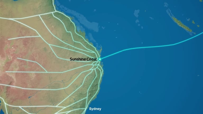 A plan would bring Australia's sixth undersea communications cable to the Sunshine Coast.
