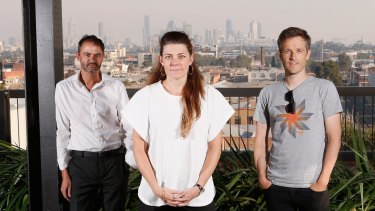 Melbourne architects Peter Malatt, Clare Cousins and Andrew Maynard.