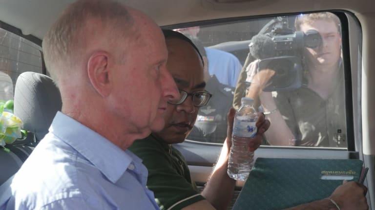 Peter Dundas Walbran in police custody.