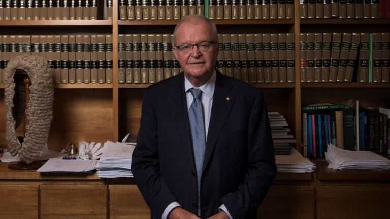 NSW Chief Justice Tom Bathurst in his chambers at the Supreme Court of NSW.