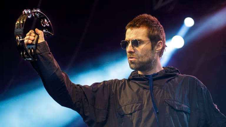Ever the rock star, former Oasis frontman Liam Gallagher constantly checked in with the sound desk, playfully heckled a Manchester United fan and dedicated a song to Albert Einstein.