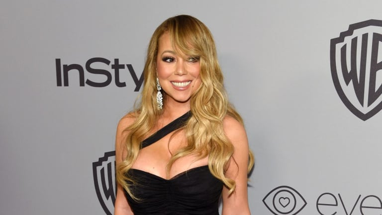 Mariah Carey arrives at the InStyle and Warner Bros. Golden Globes afterparty at the Beverly Hilton Hotel on Sunday, Jan. 7, 2018, in Beverly Hills, California.