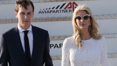 Jared Kushner and wife Ivanka Trump.