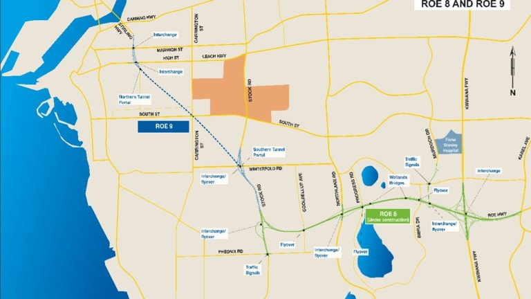 The Perth Freight Link plan.