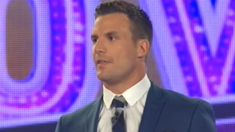 Beau Ryan addressing cheating accusations on <i>The Footy Show</i>.