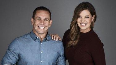 Fox duo: Matthew Johns and Yvonne Sampson.