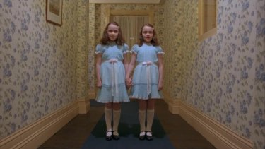A scene from the Stanley Kubrick film The Shining.